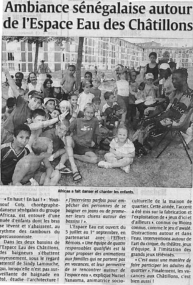 Article AFRICAA Enfants