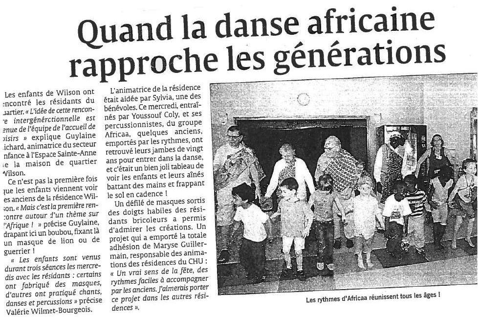 Article AFRICAA Générations