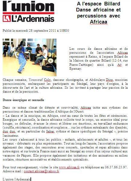 Article Union 28 Sept 2011