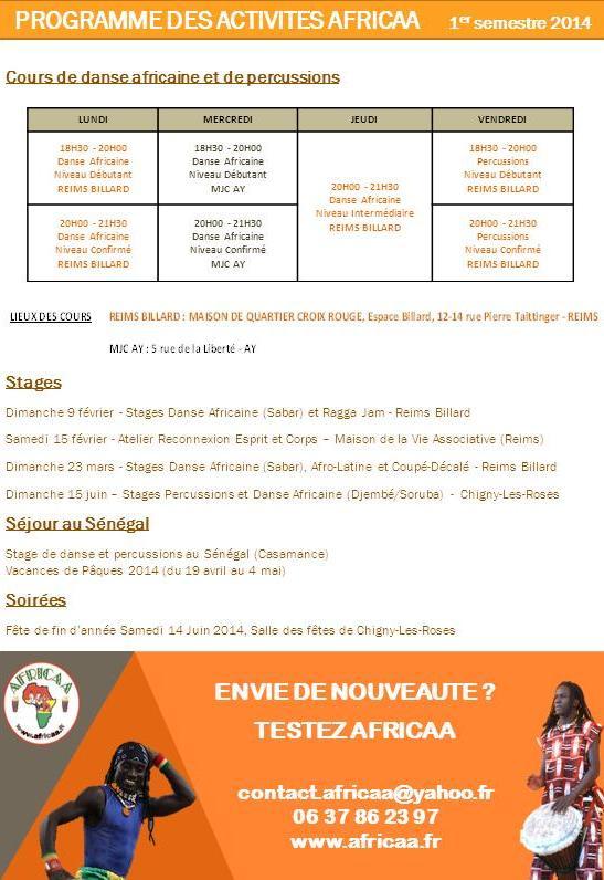 Programme Janv - Juin 2014