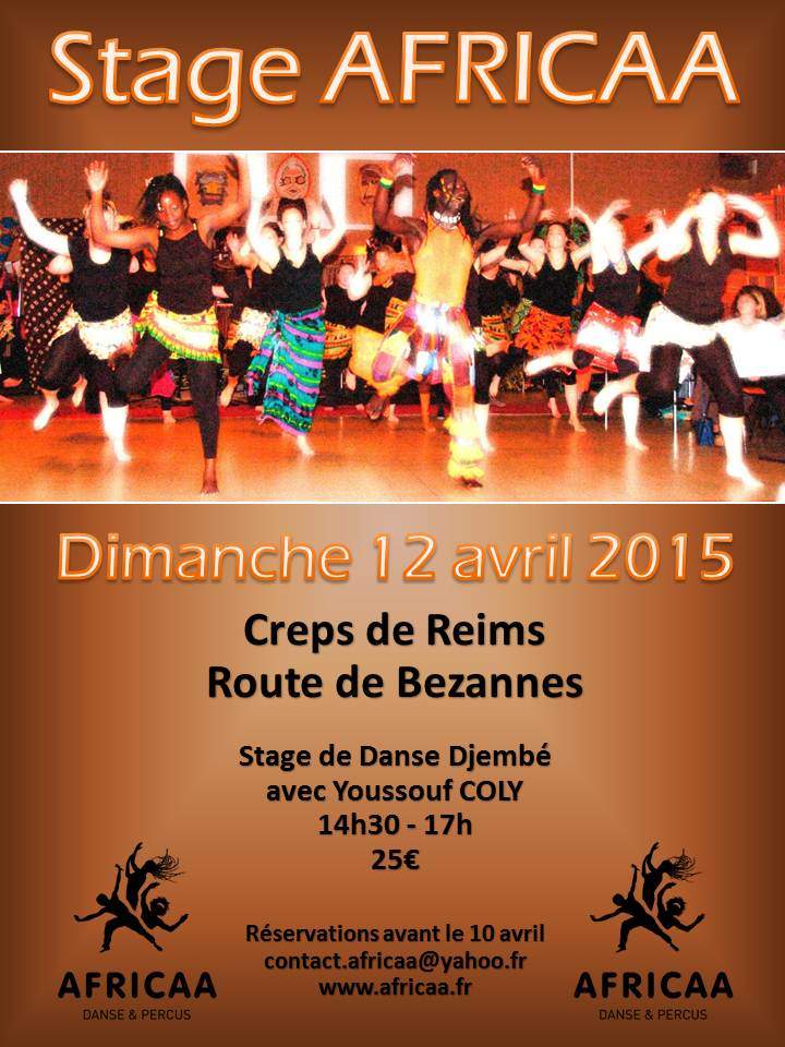 Flyer Stage AFRICAA 12 avril 2015