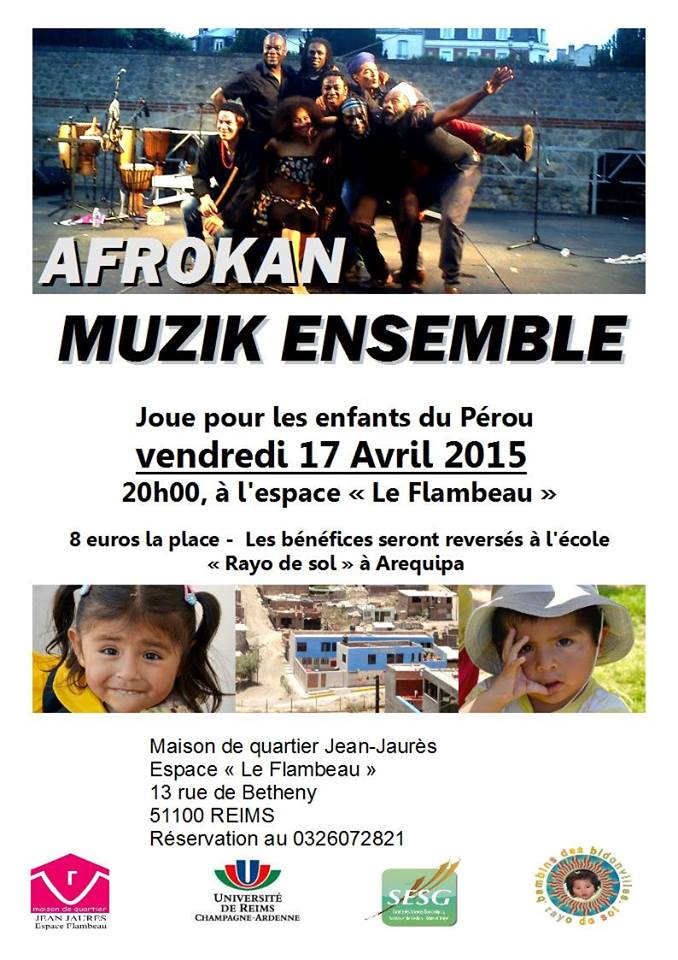 Flyer Concert Afrokan Muzik Ensemble 17 avril 2015