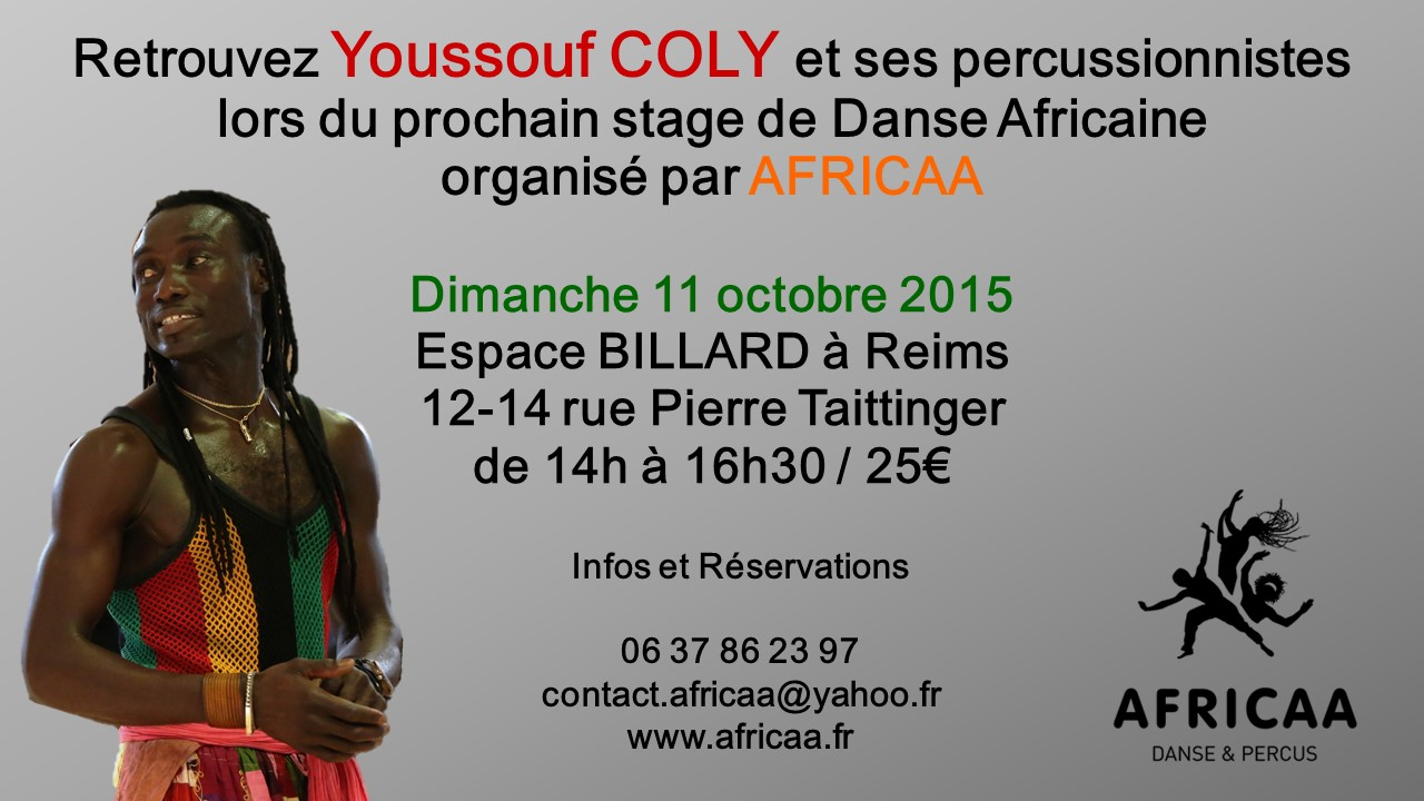 Stage AFRICAA 11 Octobre 2015