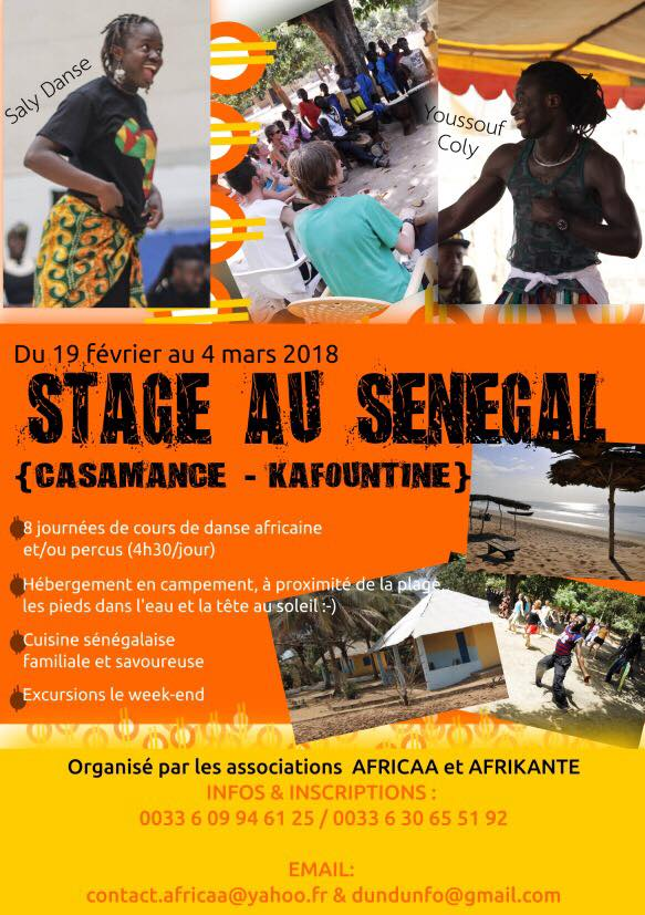 Séjour Artistique et Culturel au Sénégal – Du 19 février au 4 mars 2018