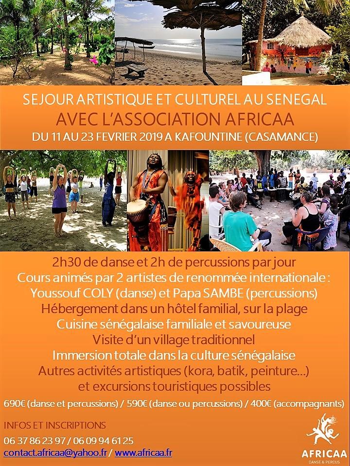 Séjour Artistique et Culturel en Casamance (du 11 au 23 février 2019)